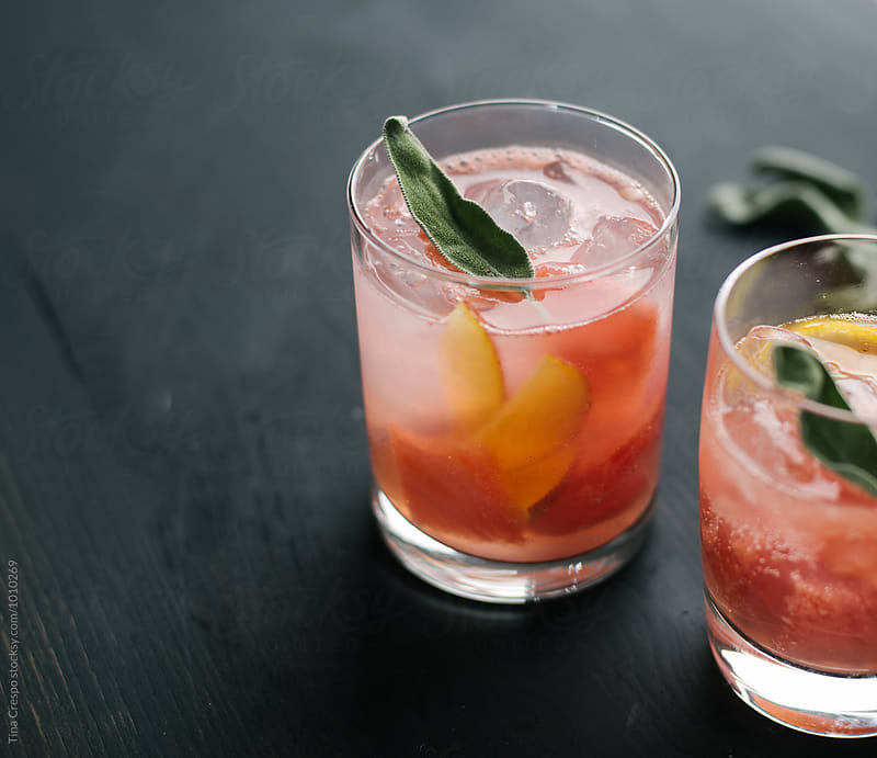 Watermelon Sage Cocktail by Tina Crespo for Stocksy United