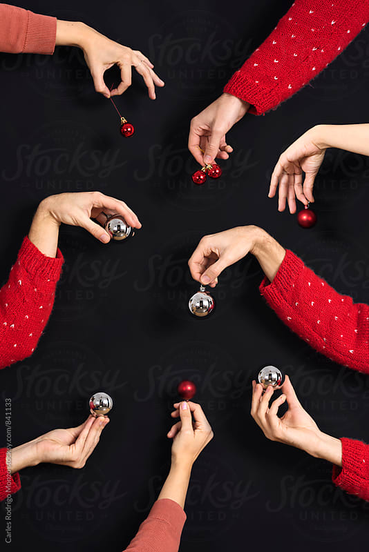 Christmas hands by Carles Rodrigo Monzo for Stocksy United