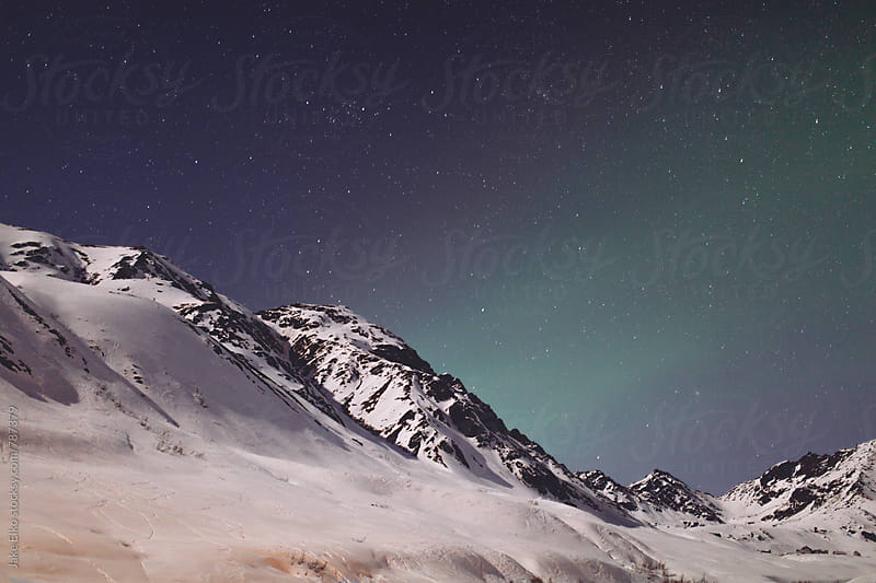 Hatcher Pass Aurora 3 by Jake Elko for Stocksy United