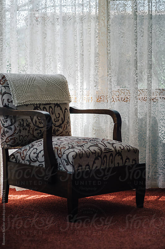 Old chair in nursing home by Rowena Naylor for Stocksy United
