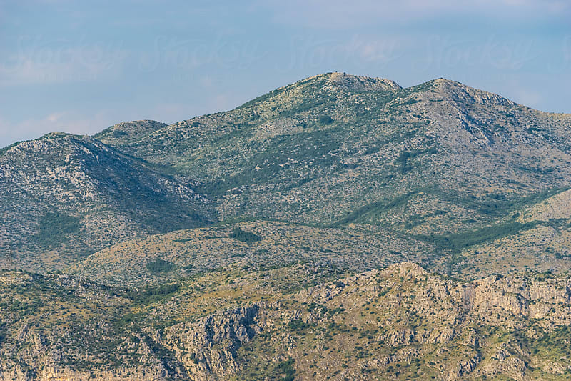 The Dinaric Alps near Dubrovnik, Croatia by Tom Uhlenberg for Stocksy United