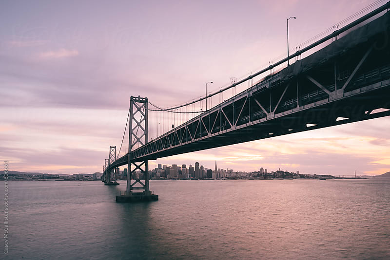 Bay Bridge Sunset by Casey McCallister for Stocksy United