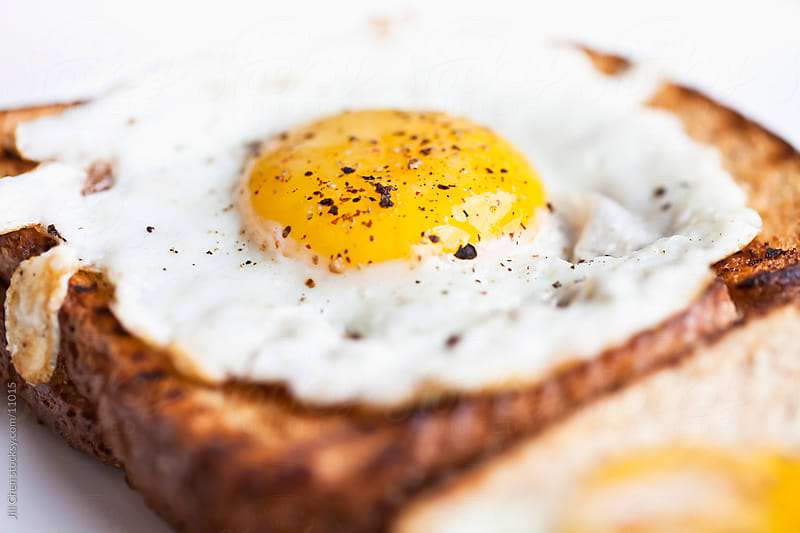 Fried Egg on Toast by Jill Chen for Stocksy United