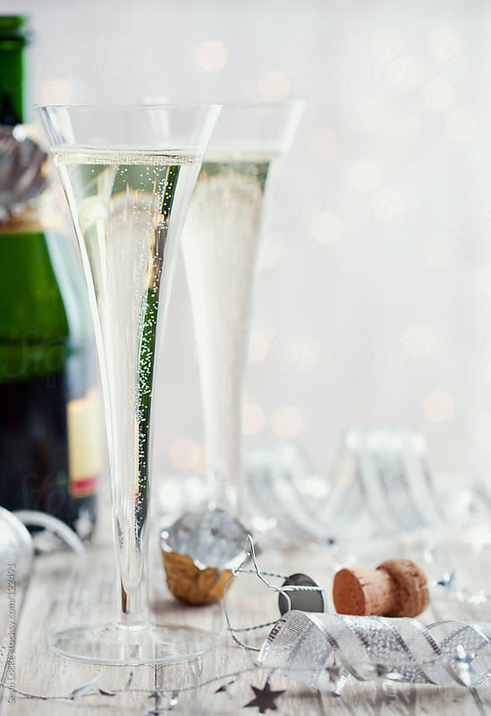 Holidays: Festive Champagne and Decorations for New Year's Eve by Sean Locke for Stocksy United