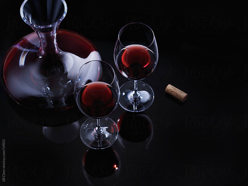 Red Wine Decanter by Jill Chen for Stocksy United