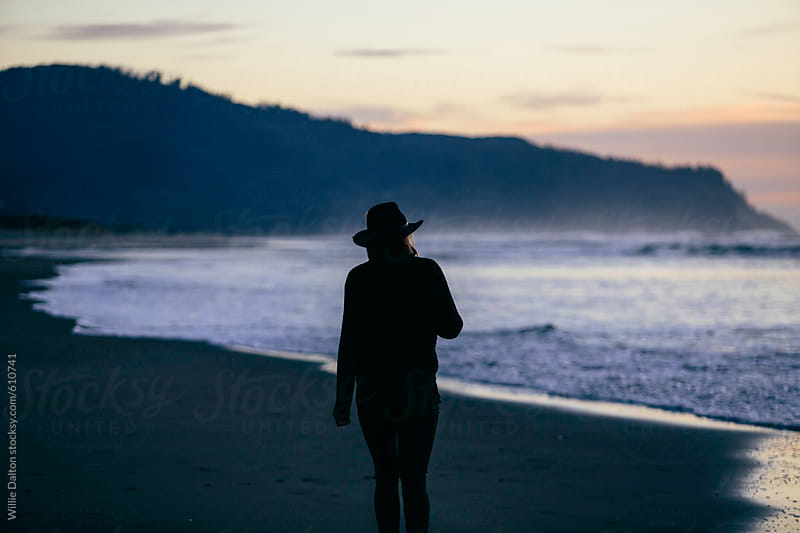 Sunset Beach Silhouette by Willie Dalton for Stocksy United