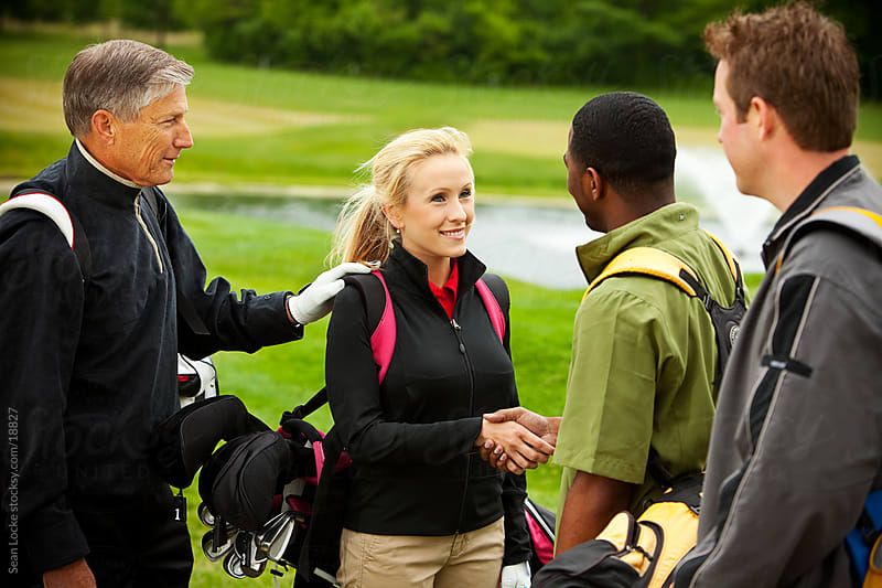 Golf: Business Introduction on the Golf Course by Sean Locke for Stocksy United