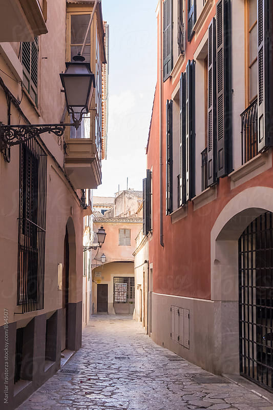 Street in the old town of Palma de Mallorca by Marilar Irastorza for Stocksy United