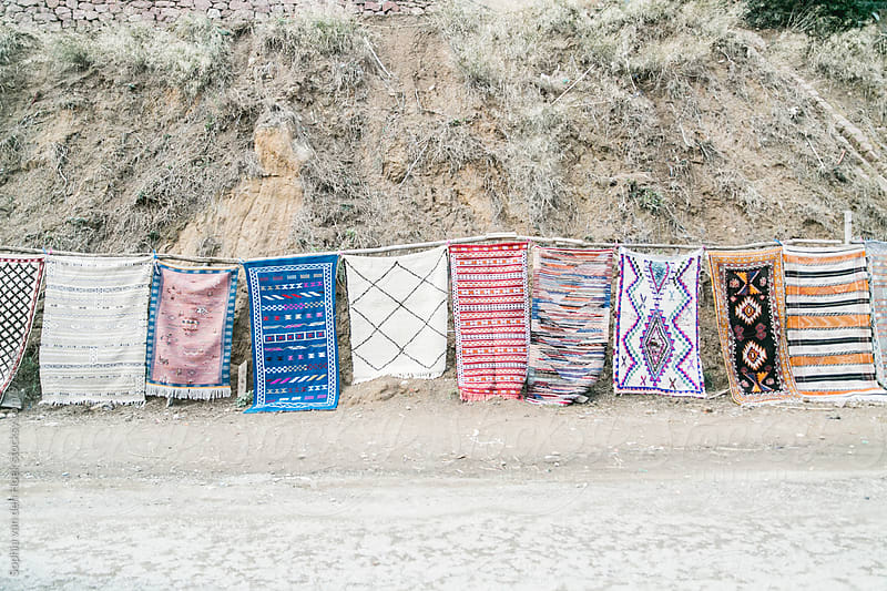 Moroccan rugs by Sophia van den Hoek for Stocksy United