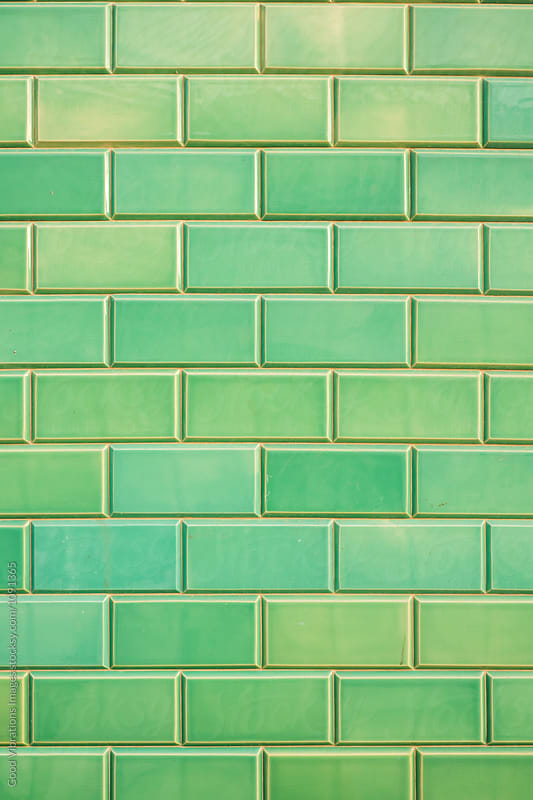 Green Bricks by Good Vibrations Images for Stocksy United