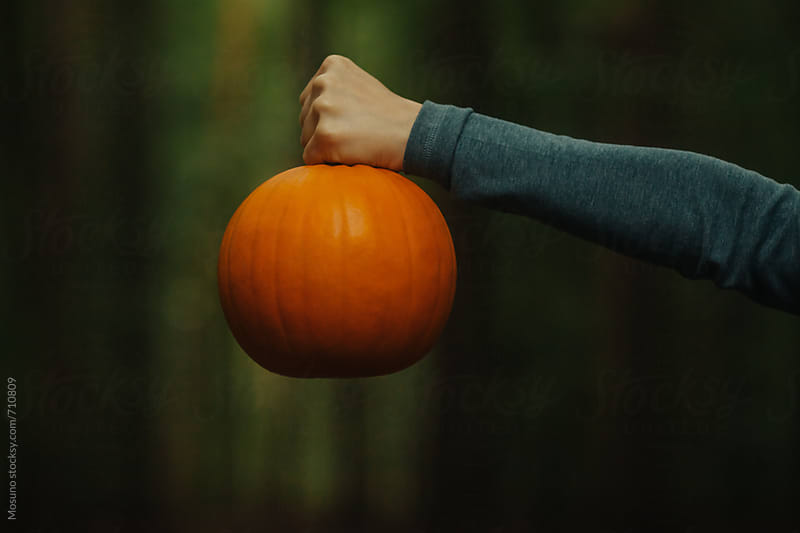 Male Hand Holding a Pumpkin by Mosuno for Stocksy United