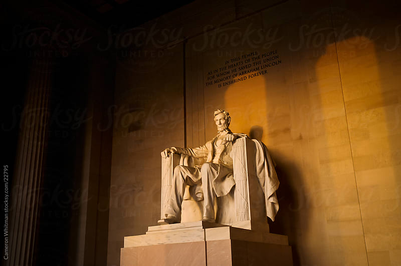 Lincoln Memorial At Sunrise by Cameron Whitman for Stocksy United