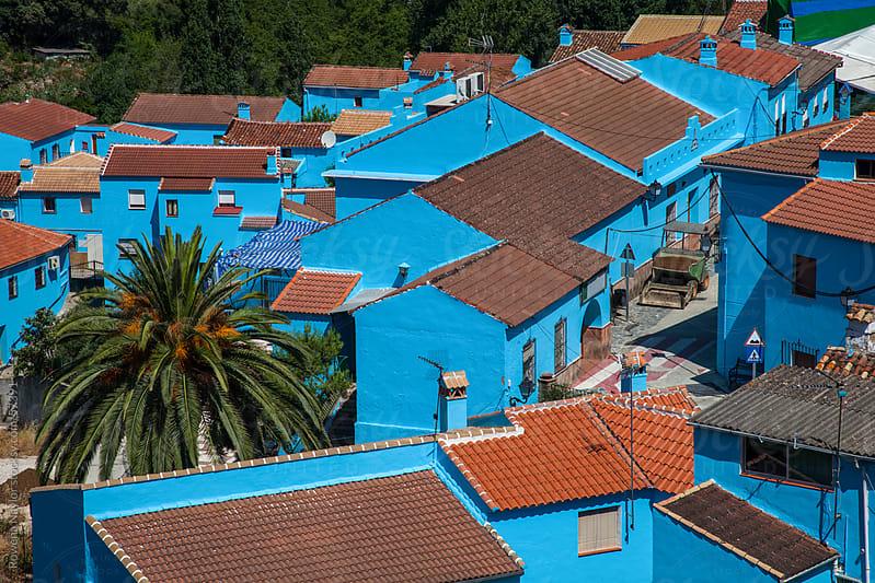 Juzcar Village Spain by Rowena Naylor for Stocksy United