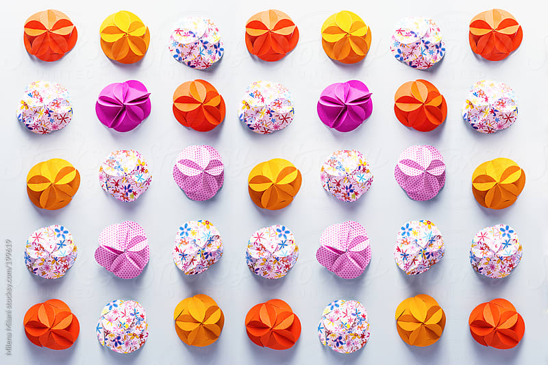 Origami pattern by Milena Milani for Stocksy United