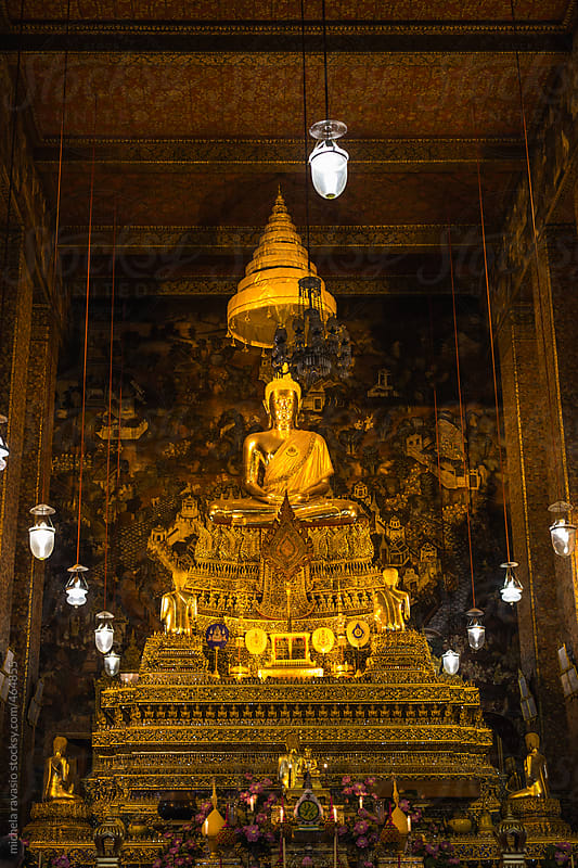 Buddha in Wat Pho, Bangkok, Thailand by michela ravasio for Stocksy United