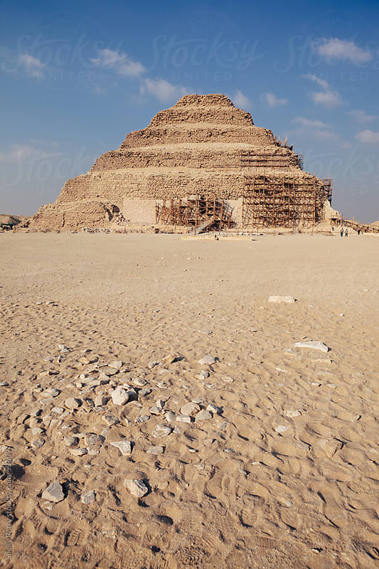 The Ancient Pyramid of Djoser in Egypt  by Shelly Perry for Stocksy United