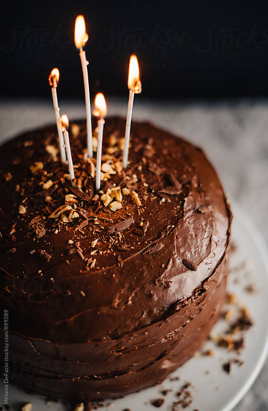 Chocolate cake by Melanie DeFazio for Stocksy United