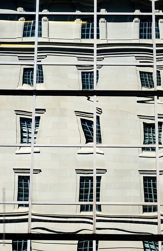 Abstract of Classic Office Building in Reflection by Jeff Wasserman for Stocksy United