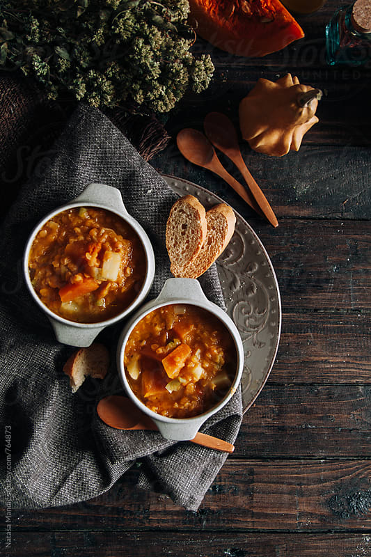 Homemade soup by Nataša Mandić for Stocksy United