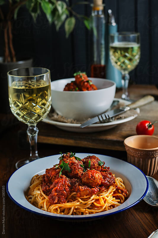 Spaghetti Bolognese by Darren Muir for Stocksy United