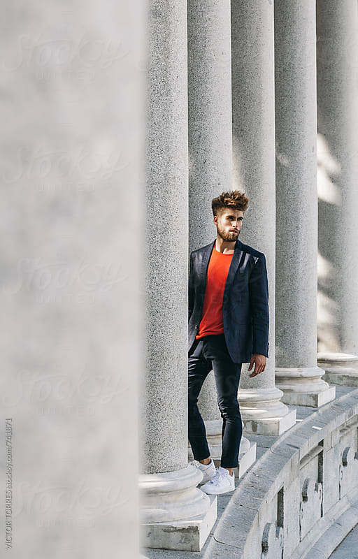 Stylish Man with Autumn Casual Outfit by VICTOR TORRES for Stocksy United