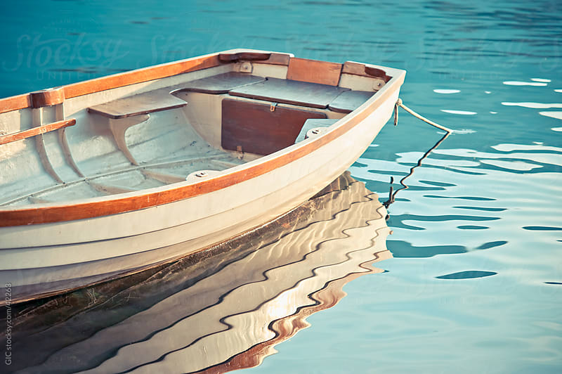 Little wooden boat close up by GIC for Stocksy United