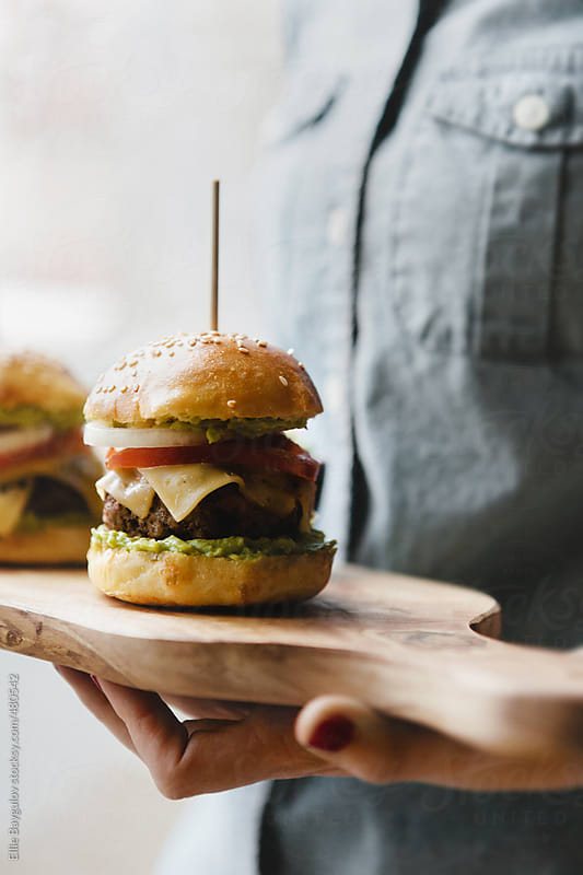 Cheeseburger sliders by Ellie Baygulov for Stocksy United