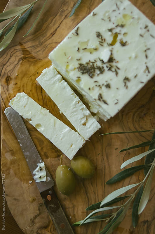 Feta Cheese and Olives by Branislav Jovanović for Stocksy United