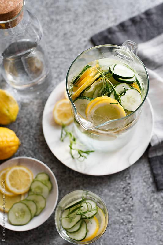 Cucumber Lemon Water by Dobránska Renáta for Stocksy United