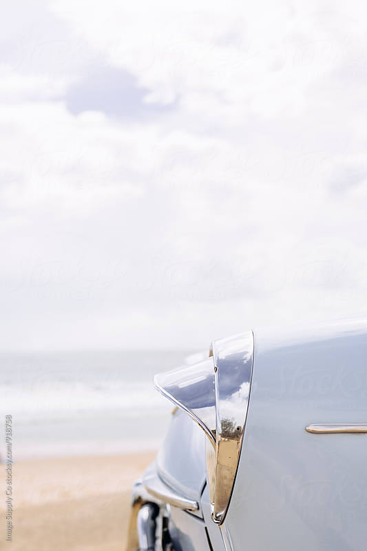 Close up of vintage car by the beach by Image Supply Co for Stocksy United