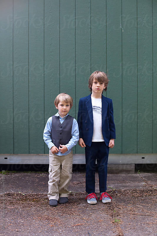 Brothers in their Easter best by Carleton Photography for Stocksy United