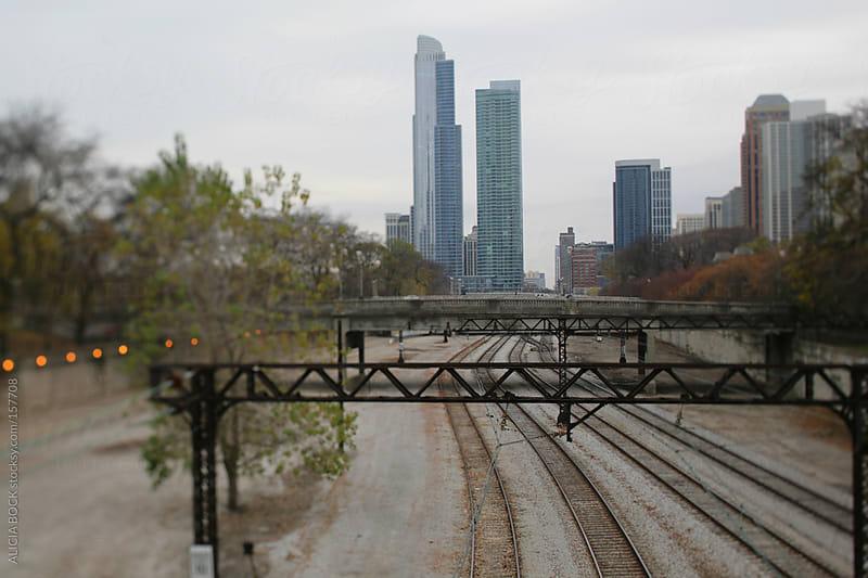 Chicago Train Tracks by ALICIA BOCK for Stocksy United