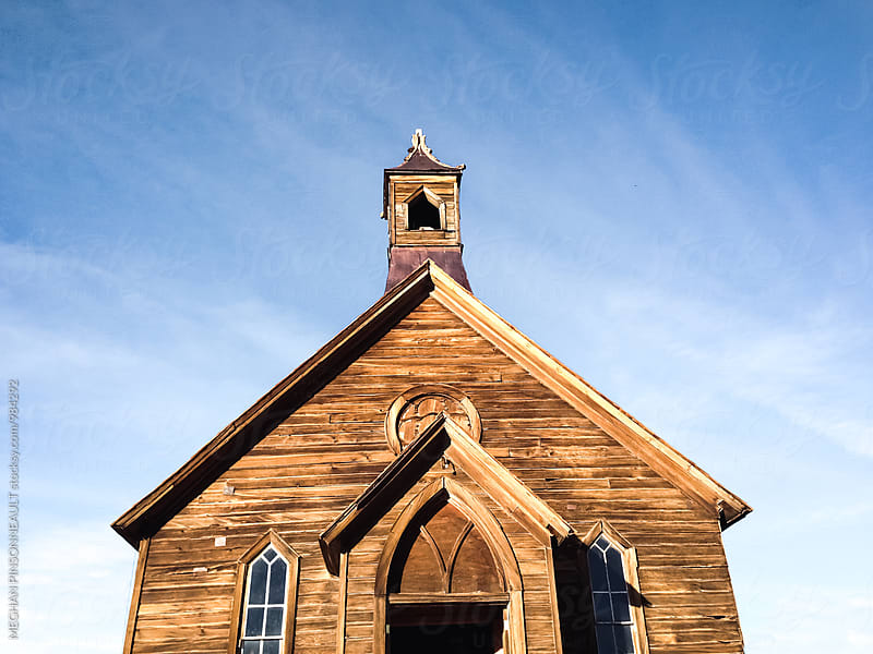 Old Abandoned Church in Ghost Town by MEGHAN PINSONNEAULT for Stocksy United