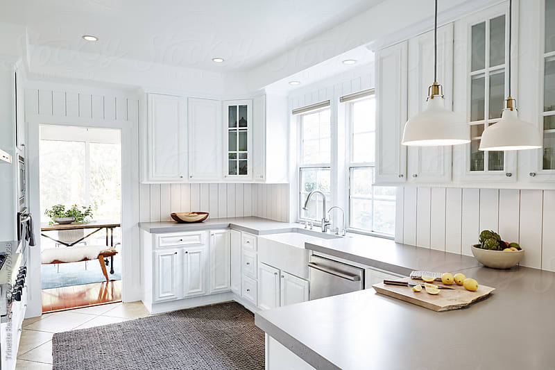 Modern Farmhouse Kitchen  by Trinette Reed for Stocksy United