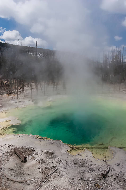 Yellowstone Hot Spring by Adam Nixon for Stocksy United