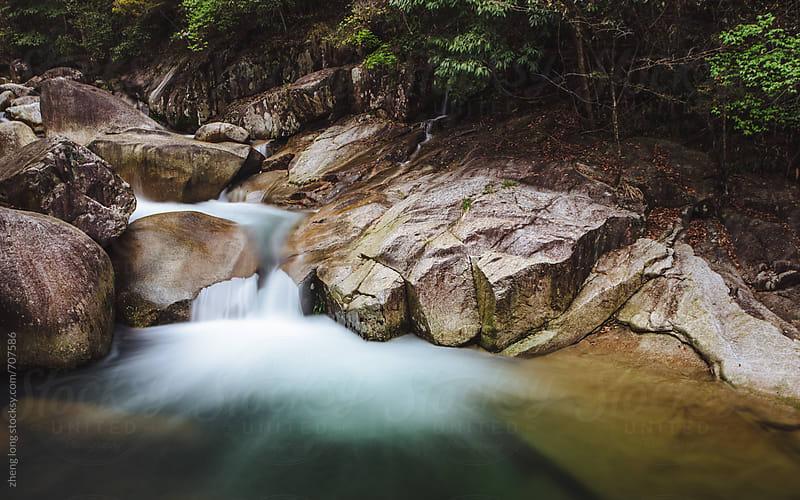 Mountain stream,Jiangxi,China by zheng long for Stocksy United