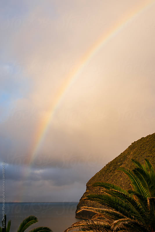 Rainbow over São Miguel, Azores by Ryan Dearth Photography for Stocksy United