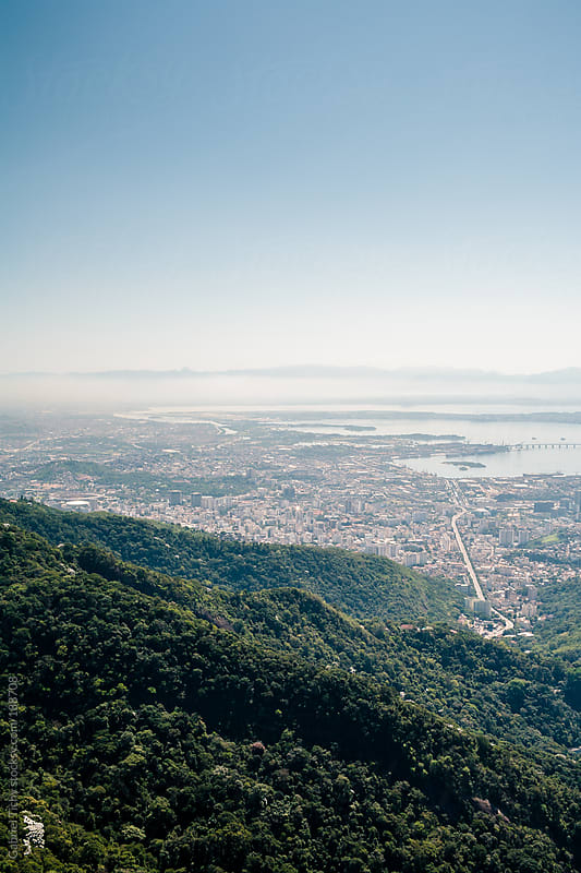 Aerial view of Rio de Janeiro by Gabriel Tichy for Stocksy United