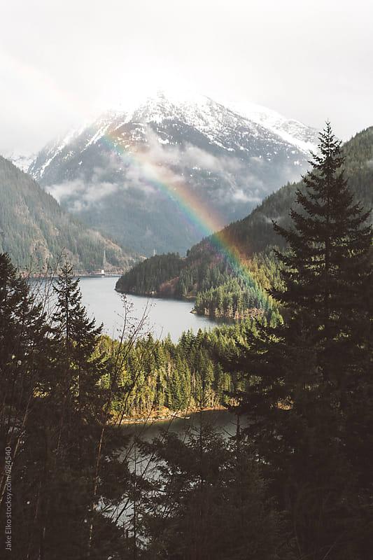 Diablo Lake Rainbow North Cascades by Jake Elko for Stocksy United