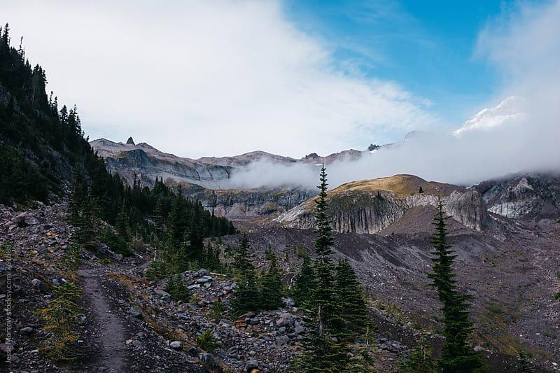 landscapes of mount rainier in washington cascade mountain range by Jesse Morrow for Stocksy United