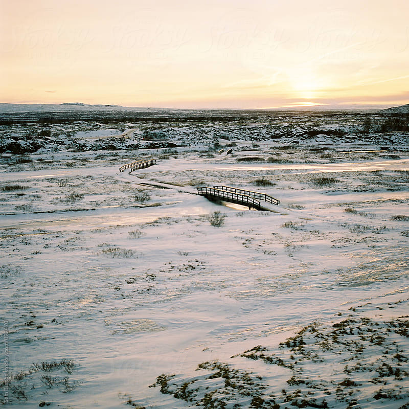 Sunrise at Thingvellir National park by Sam Burton for Stocksy United