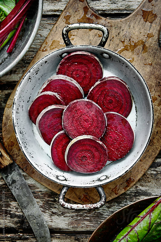 Sliced beetroot by James Ross for Stocksy United