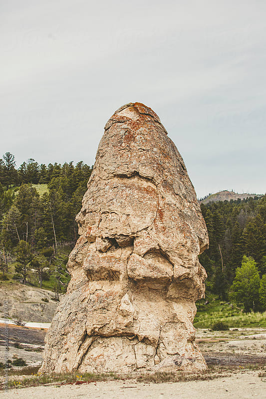 Liberty Cone in Mammoth Hot Springs  by michela ravasio for Stocksy United