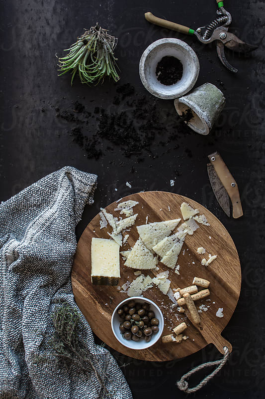 Cheese on a cutboard - Snack time by KEMA Food Culture for Stocksy United