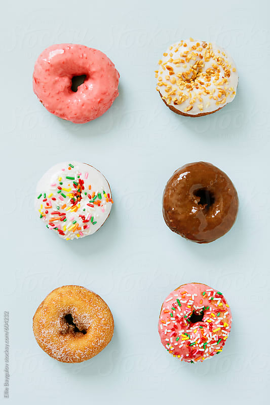 Colorful donuts by Ellie Baygulov for Stocksy United