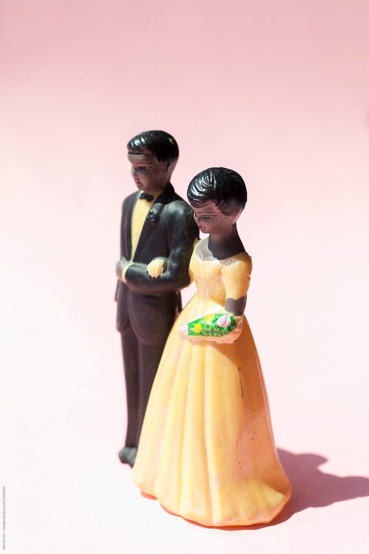 Retro Wedding Cake Topper By Mental Art Design Topper