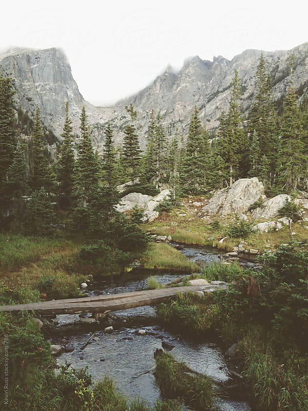 Dream Lake Rocky Mountain Creek by Kevin Russ for Stocksy United