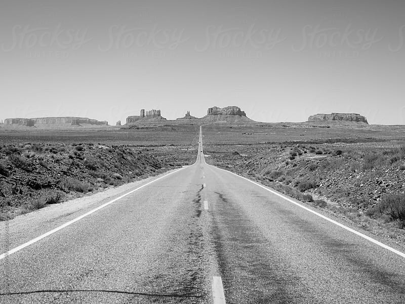 Road to Monument Valley, Utah by Jeremy Pawlowski for Stocksy United