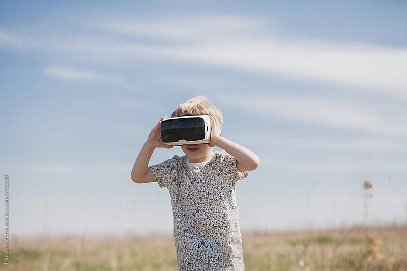 Boy in VR by Irina Efremova for Stocksy United