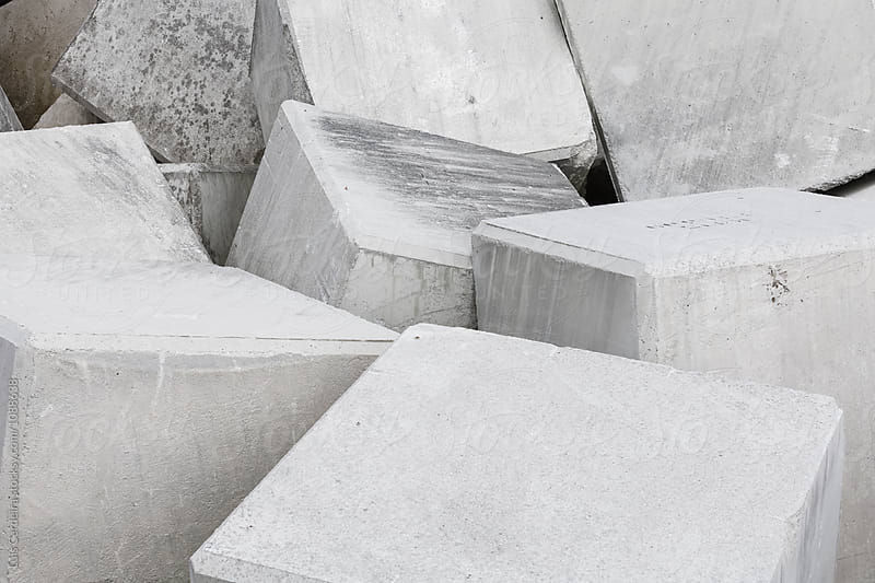 Concrete blocks by Luis Cerdeira for Stocksy United